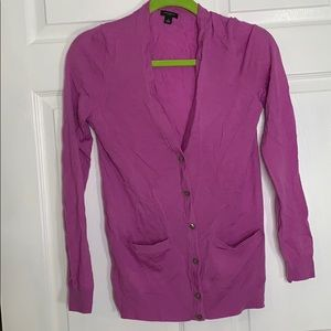Ann Taylor size small lavender button up cardigan